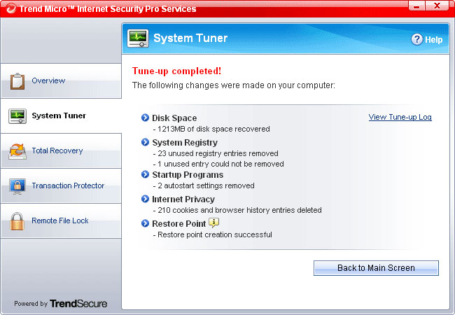Trendmicro Internet Security 2008 Pro Details