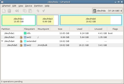 Gparted  live is the  magic  of  disks configuration